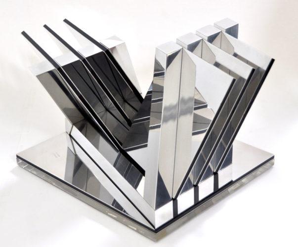1980 Diagonaal constructie 2 kleinplastiek aluminium