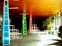 1983  Hilversum  Hogere Technische School lichtobjecten en zitelementen