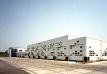 1985 Leiden werkplaats Stadsreiniging ontwerp gevels met indeling ramen