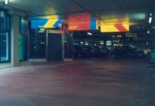 1985  Amsterdam  parkeergarage VU Medisch Centrum lichtobjecten