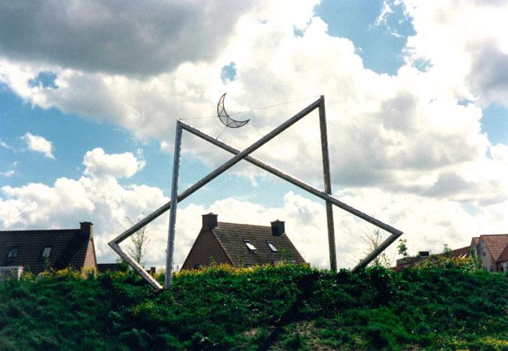 1988  Amstelveen  Beneluxbaan  Shooting Star roestvrijstaal sculptuur