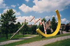 1990  Mijdrecht wijk  Molenland Twee Elementen staalsculpturen