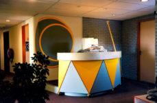 1994  Amstelveen   kinderdagverblijf De Tamboerijn  balie in de vorm van een trommel