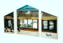 2001 Amsterdam De Mirandabad  drieluik Histoire Memoire 3D fotocollage