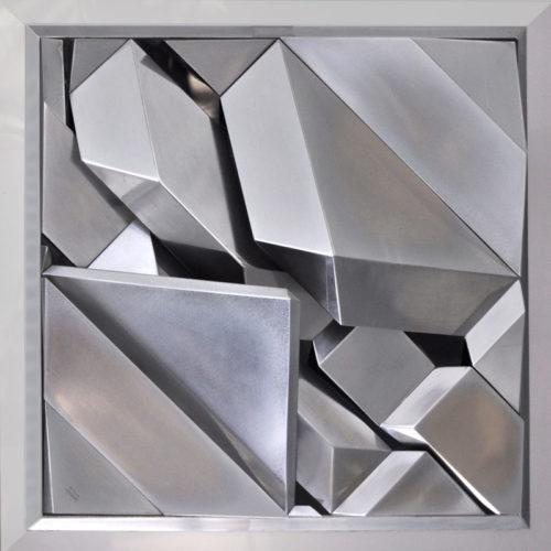 1979 Geometrisch Landschap 1 gepolijst aluminium