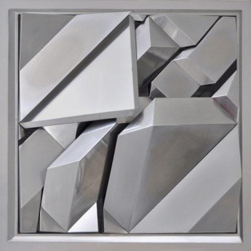 1979 Geometrisch Landschap 2 gepolijst aluminium