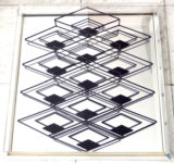 1977 Spiegelreliëf met metaalconstructie 1